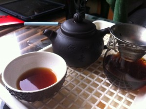 Drinking delicious tea is awesome.