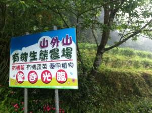 山外山有機生態茶園農場, (or SWS for this post). I got a little lost trying to find it and seeing this sign was very exciting!
