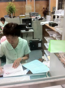 This woman helped process my application for a post office account. Perhaps my infatuation with the Chungwha Post is that, like any institution in Taiwan, there is a lot of stamping of paperwork involved in any transaction (and I freely admit that I think stamps are awesome). I swear she had to stamp at each paper at least 3 times with all variety of things.